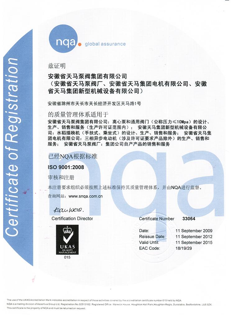 集团ISO9001中文版