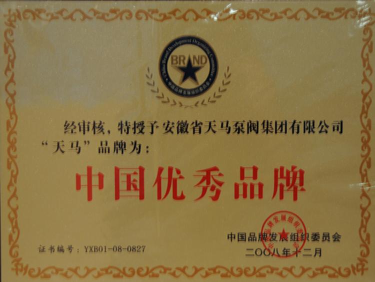 中国优秀品牌